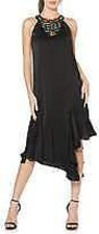 Laundry by Shelli Segal Women's Beaded Asymmetrical Midi Dress, Black, 8 - $69.29