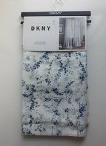 """Dkny Promenade Cotton Window Curtains Panels Drapes Branches 50x84"""" Blue Gray - $64.35"""