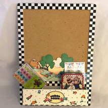 Mary Engelbreit  17 x 12 At Home 4 pc Message Cork Board w Key hooks PLU... - $48.51