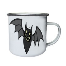Halloween Scary Bat Retro,Tin, Enamel 10oz Mug q728e - $246,74 MXN