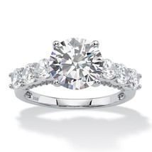 PalmBeach Jewelry 4.11 TCW Cubic Zirconia Platinum over .925 Silver Brid... - $33.49