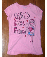 the childrens place pink puppy dog glitter graphic tee shirt medium 7 - 8 - $5.15