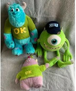 Disney Store Mike & Squishy + Sully Monster University My Scare Pal Talk... - $23.75