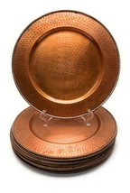 """Set of 12 Hammered Copper w/ Patina 13"""" Charger Plates Platters - $128.69"""