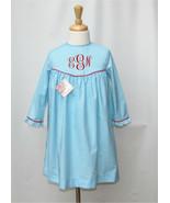 Girl Birthday Monogram Dress Back to School Monogram Free Personalization - $38.00