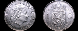 1965 Netherlands 1 Gulden World Silver Coin - $13.99
