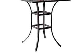 "Outdoor bar square table 36"" Elisabeth patio pool side cast aluminum furniture image 4"