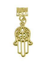 Hand of Fatima 24K Gold Plated European bead charm Islam Allah Islamic Jewelry - $26.90