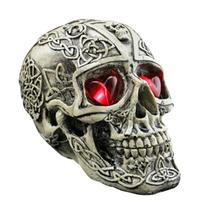 Halloween Resin LED Lights Human Skull Replica Skeleton Model Costumes  - $25.90
