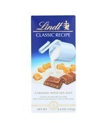 Lindt Lindor Milk Chocolate Caramel With Sea Salt, Case Of 12, 4.4 Oz FR... - $46.21