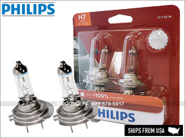NEW! PHILIPS X-treme Vision H7 Halogen Replacement bulbs PAIR 12V 55W 12... - $32.25