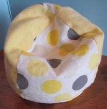 "handmade YELLOW fleece beanbag chair for 18"" American Girl doll / baby doll - $17.82"