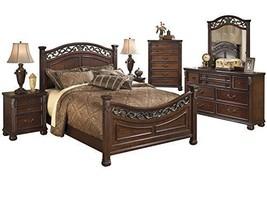 Ashley Leahlyn 6PC Bedroom Set Queen Panel - Brown - $2,650.19