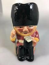 "Staffordshire Shorter & Son Chelsea Guardsman Large Toby Jug Mug 6 3/4"" England - $34.30"