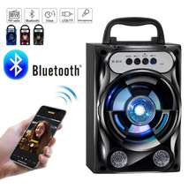 Protable Bluetooth Speaker Wireless Bass Stereo Sound System With Led Light - $41.12 CAD