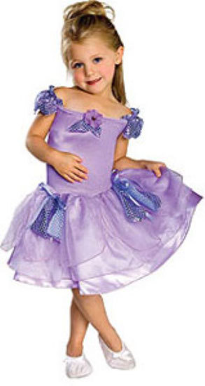 Primary image for Toddler Girls Lavender Musical Ballerina Halloween Costume Size 1-2 Years