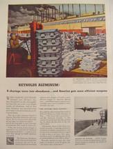 1944 Reynolds Aluminum Listerhill, Alabama Plant Print Ad Francis Criss ... - $9.99
