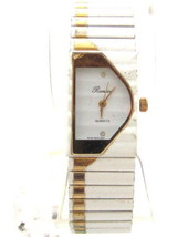Elegant Vintage White Enamel*Gold Tone Ronica Woman'S Wristwatch*Jewelry... - $11.88