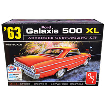 Skill 2 Model Kit 1963 Ford Galaxie 500 XL 3-in-1 Kit 1/25 Scale Model by AMT AM - $49.99