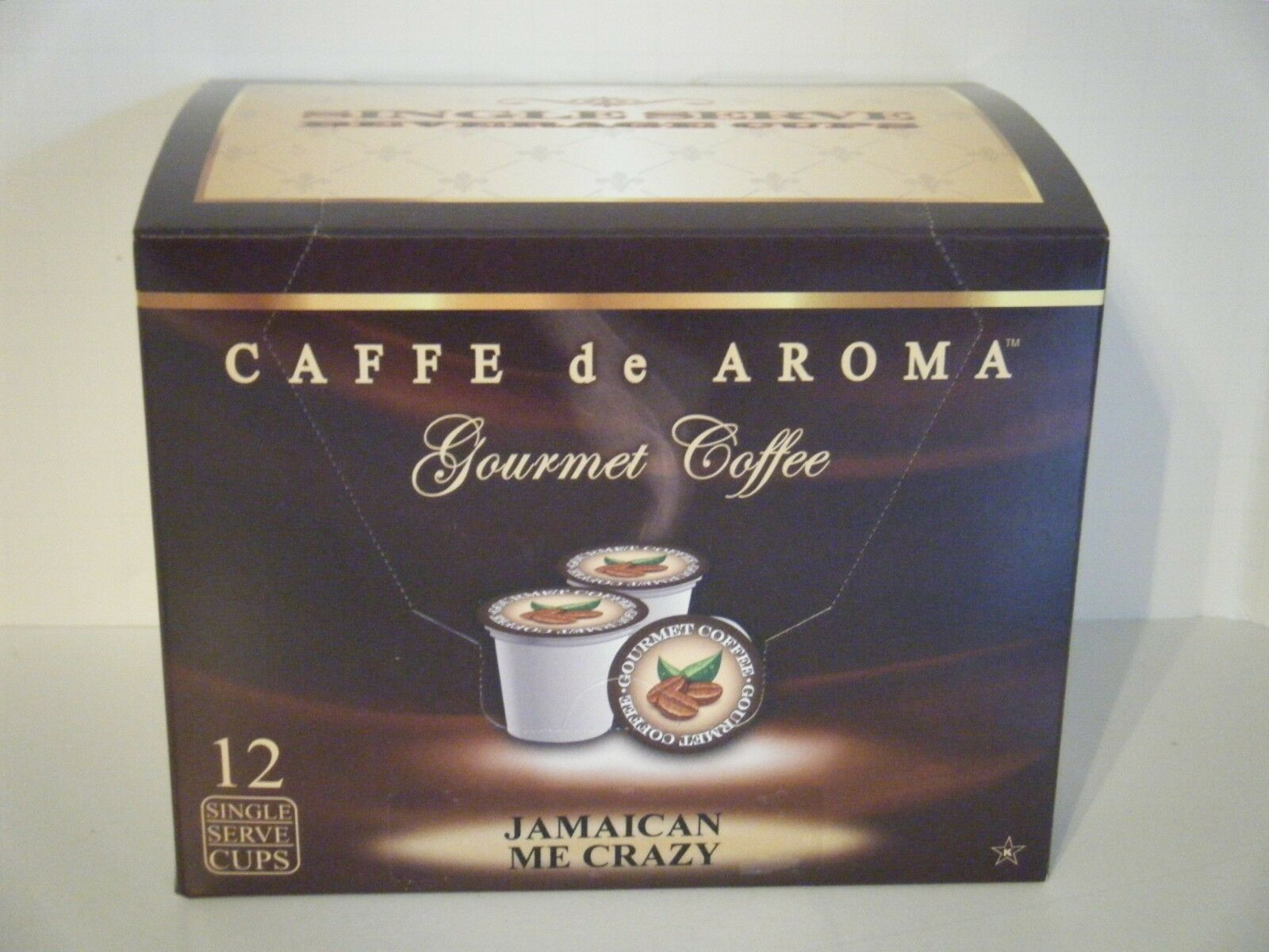 Primary image for Caffe de Aroma Jamaican Me Crazy flavored 12 Single Serve K-Cups OK for 2.0