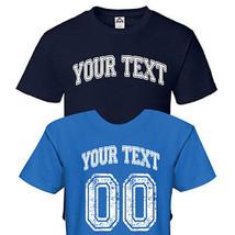 Custom College High School University Sports Team T-Shirt Tee - Front & Back C10 - $20.84+