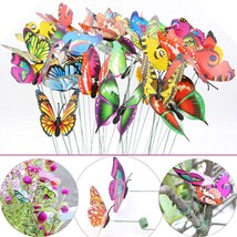 Colorful Insects Butterfly Stakes on Metal Spring Garden Lawn Yard Decor... - $8.64
