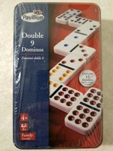 Toys R Us Pavillion Double 9 Dominos Tin New Sealed Free US Shipping  - $17.82
