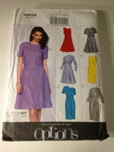 Vogue Sewing Pattern 8828 Size 14-22 Dress NEW OLD Stock Uncut - $11.63