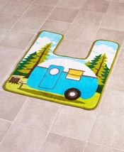 Retro Camping Bathroom Collection Contour Rug - $23.97