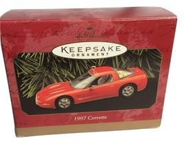 Hallmark Red Chevrolet Corvette Keepsake Christmas Ornament Sports Car 1997 - $12.95
