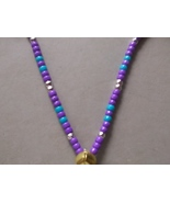 EQUINE ROYALTY ~ HORSE RHYTHM BEADS ~ Purple, Silver, Teal ~ Size 54 Inches - $17.00
