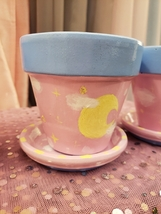 """""""Dreamy Night Sky"""" Hand painted 4in flower/plant pot  - $15.00"""