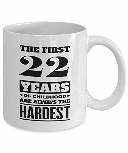 Primary image for BirthdayMugs - The First 22Years of Childood Coffee Mugs - Excellent 22nd Birthd