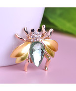 Brand New Anti Gold Plated/Black Gun Plated Beetle Insect Shape Brooch - $18.41