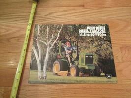John Deere Diesel Tractors 14.5 to 60 PTO HP Vintage Dealer sales brochure - $14.99
