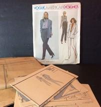 Vogue American Designer Sewing Pattern 2076 John Anthony 10 Jacket Pants... - $13.32
