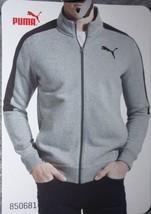 NEW PUMA Men's Track Jacket Heather Gray Front Zipper 2 Pockets Size L - $18.69