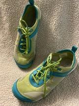 Merrell Dash Glove Calypso Womens Sz 7.5 Blue Lime Water Trail Running Shoes - $19.99