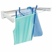 Clothes Drying Rack Drying Rods Wall Mount Retractable Clothing Indoor NEW - $62.36