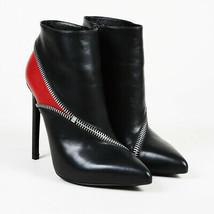 Saint Laurent Leather Zip Pointed Ankle Boots SZ 37.5 - $385.00