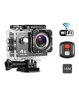Remote Control 4K Waterproof Action Camera for Sports - $79.19