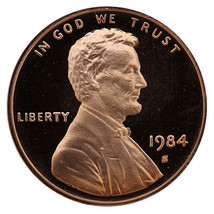 1984-S Lincoln Memorial Cent Penny Gem Proof US Mint Coin Uncirculated UNC - $7.99