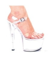 Brand New Ellie Shoes Flirt Platform Pump Clear Size 8 - $51.43