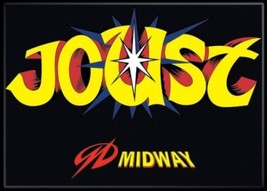 Midways Arcade Games Joust Classic Name Logo Refrigerator Magnet NEW UNUSED - $3.99