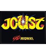 Midway Arcade Game Joust Classic Name Logo Refrigerator Magnet NEW UNUSED - $3.99