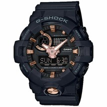 Casio G-Shock Men's GA-710B-1A4DR Black/Rose Gold Tone Watch - $89.05