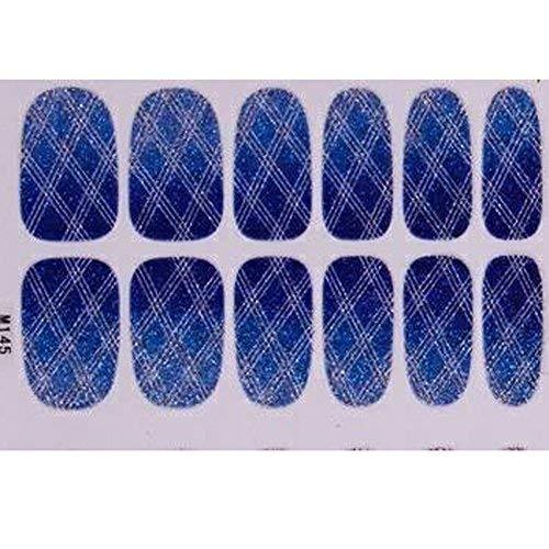 Primary image for Set of 6 Stylish Bright Gradient Glittery Nail Art Stickers, Dark blue
