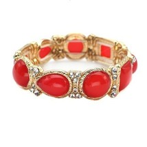 Inspired Silver Red & Gold Buble Sparkling Stretch Bracelet Perfect for ... - $689,45 MXN