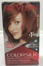 Revlon Colorsilk Color Hair Dye #42 Medium Auburn Permanent 3D Color Gel  - $8.71