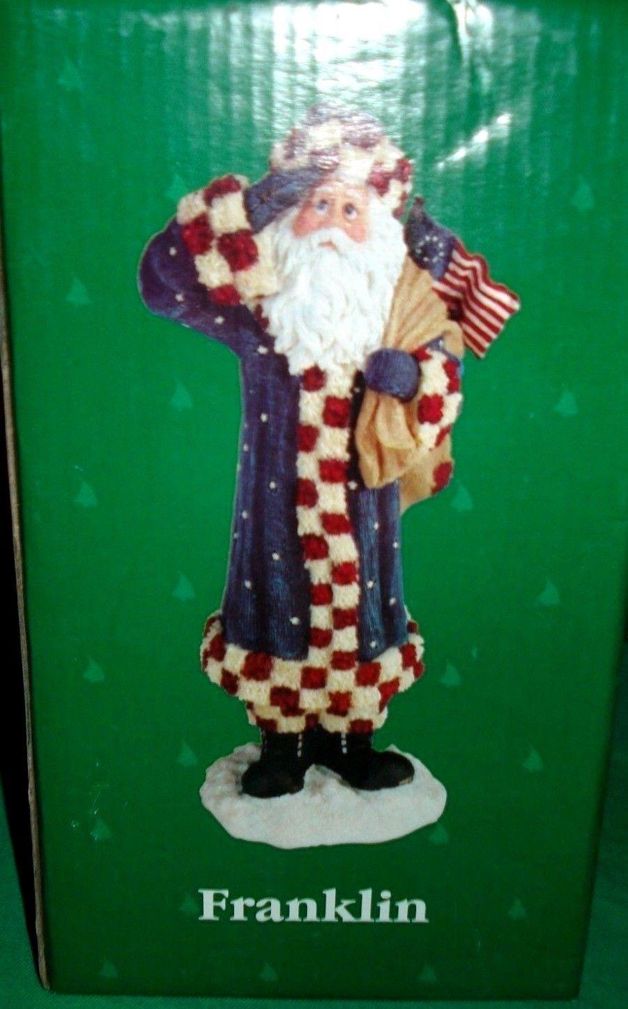 "Boyds Holiday Santa ""Franklin"" #28020 -2E- Patriotic- 2006 - Retired image 2"